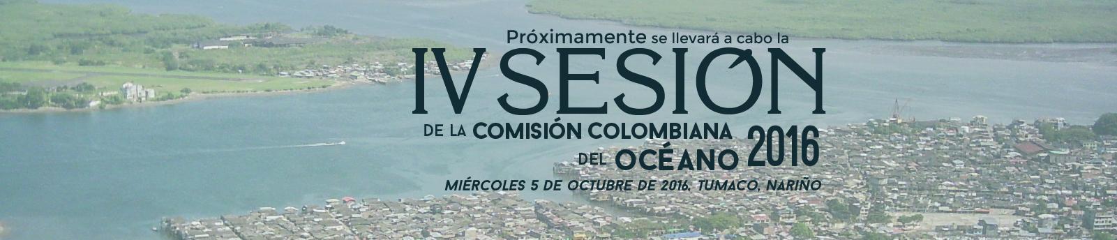 IV Sesión de la Comisión Colombiana del Océano 2016