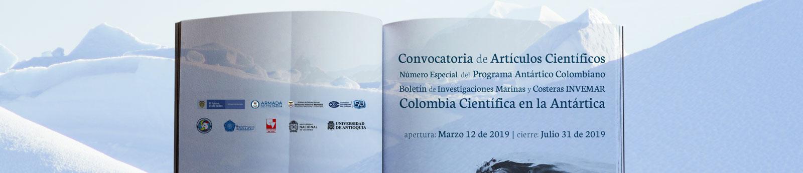 Se abre convocatoria para recibir artículos científicos vinculados al Programa Antártico Colombiano