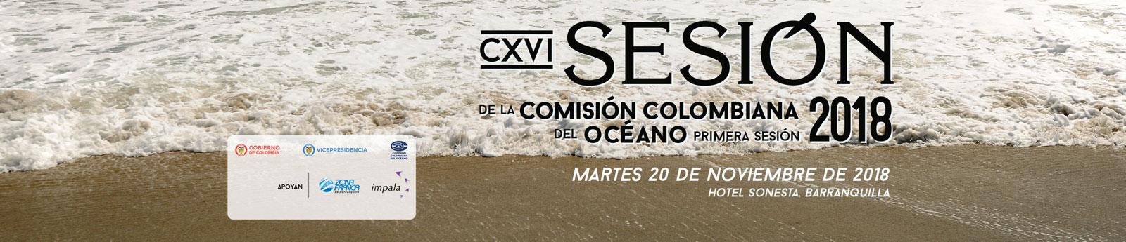 CXVI Sesión de la Comisión Colombiana del Océano