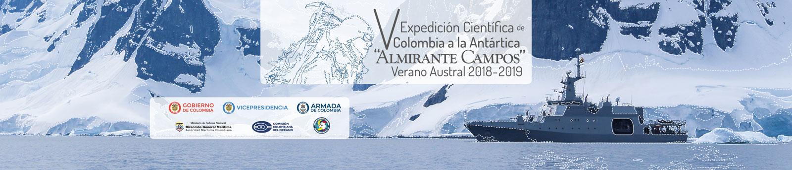 Inicia la V Expedición Científica de Colombia a la Antártica 'Almirante Campos'