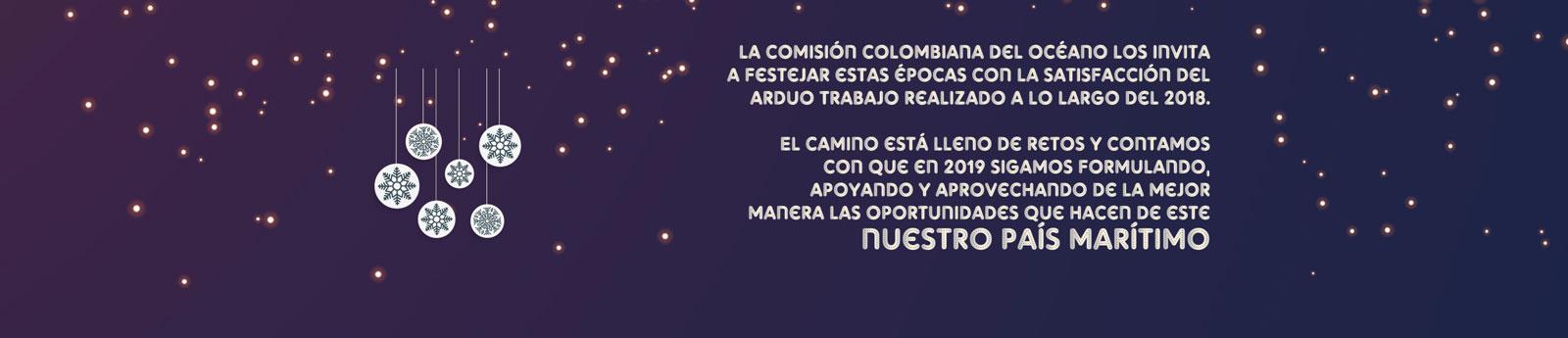 2018-12 La Comisión Colombiana del Océano los invita a festejar estas fiestas