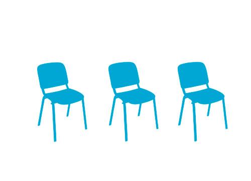 Espaldares para las sillas.